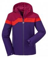 Schöffel Bourges Junior pige skijakke, rød/lilla