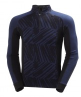 Helly Hansen Warm Freeze 1/2 Zip, mørkeblå print