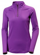 Helly Hansen W Phantom 1/2 zip Midlayer, lilla