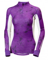 Helly Hansen W Warm Freeze 1/2 Zip, lilla print