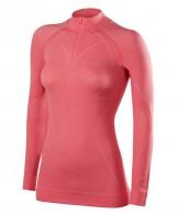 Falke Wool-Tech Zip Shirt Comfort, dame, rød