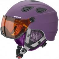 Alpina Grap Visor HM, skihjelm med Visir, Mat Violet