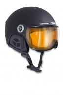 Osbe New light R, skihjelm med visir, mat black