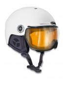 Osbe New light R, skihjelm med visir, mat white