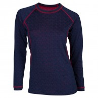 Ulvang 50Fifty Round neck Ws, damer, New Navy/Persian Red