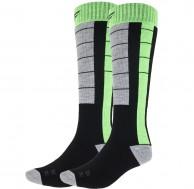 4F Ski Socks, billige skistrømper, herre, 2-par, sort/grøn