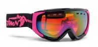 Demon Matrix skigoggle, sort/fuscia