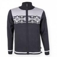 Kama Nordisk striksweater m. Windstopper, Graphit