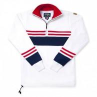 Kama striksweater med Gore Windstopper, Hvid