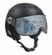 Osbe Proton Sr Snow, skihjelm med visir, mat black