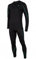 4F Cooldry skiundertøj til herre, sæt, sort