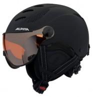 Alpina Jump JV skihjelm med Visir, Mat Sort
