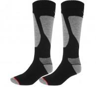 4F Ski Socks, skistrømper, herre, 2-par, sort/grå