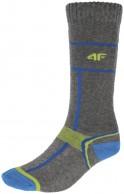 4F Ski Socks, billige skistrømper til børn, grå/blå