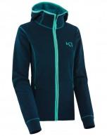 Kari Traa Tina F/Z fleece skitrøje, blå