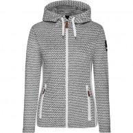Weather Report, Flor fleece jakke, damer, grå