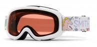 Smith Gambler Air jr skibrille, hvidt mønster
