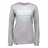 Mons Royale Boyfriend LS, skiundertrøje, Grey Marl