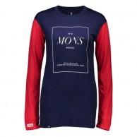 Mons Royale Boyfriend LS, skiundertrøje, Navy Raspberry