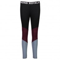 Mons Royale Christy Legging, skiunderbukser, Burgundy Lead