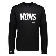 Mons Royale Original LS, skiundertrøje, Black