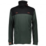 Mons Royale Yotei Powder Hood, skiundertrøje, Forest Green