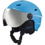 Cairn Electron, junior skihjelm med visir, mat blå
