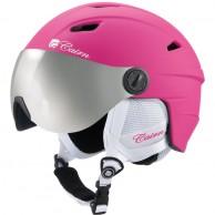 Cairn Electron, junior skihjelm med visir, lyserød