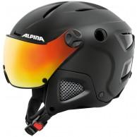 Alpina Attelas Visor QVM, skihjelm med visir, sort