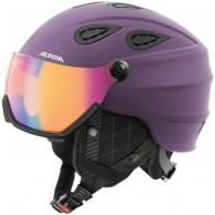 Alpina Grap Visor HM, skihjelm med Visir, violet
