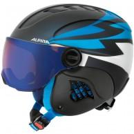 Alpina Carat LE Visor HM, junior skihjelm med visir, mørkeblå