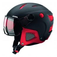 Alpina Attelas Visor QVM, skihjelm med visir, sort/rød