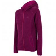 4F fleece jakke m. hætte, dame, lilla