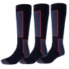 4F Ski Socks, 3 par billige skistrømper, dark navy