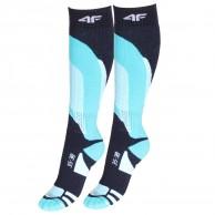4F Ski Socks, 2 par billige skistrømper, navy