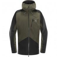 Haglöfs Niva Jacket, herre skijakke, mørkegrøn/sort