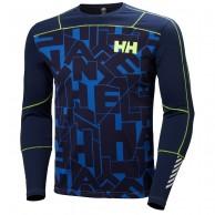 Helly Hansen Lifa Active Graphite Crew, herre, blå
