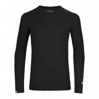 Ortovox Merino 105 Ultra Long Sleeve, sort