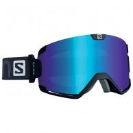Salomon Cosmic goggles, sort/lo light blue