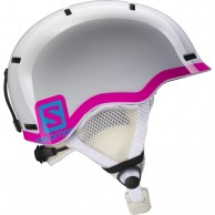 Salomon Grom skihjelm, hvid/pink