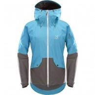 Haglöfs Khione Insulated skijakke, dame, blå/grå
