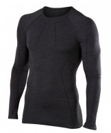 Falke Long Sleeved Shirt Wool-Tech, herre, sort