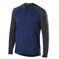 Falke 1/2 Zip Long Sleeved Shirt, herre mørkeblå