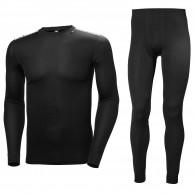 Helly Hansen Comfort Dry 2-Pack skiundertøj, sæt, herre, sort