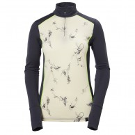 Helly Hansen W Wool Graphic 1/2 zip, hvid