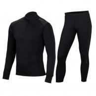 Cairn Comfort Zip 180, skiundertøjssæt, mænd, sort