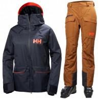 Helly Hansen W Powder skisæt, dame, blå/cinnamon