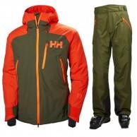Helly Hansen Stuben/Selkirk skisæt, herre, grøn