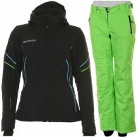 DIEL Celia/Chara skisæt, dame, sort/grøn