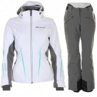DIEL Bianka/Brea skisæt, dame, hvid/grå